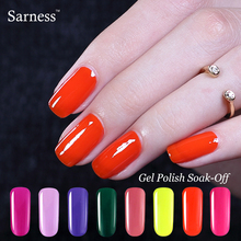 Sarness 8ml UV Gel Polish Soak-off LED UV Nail Gel Color Long-lasting Vernis Semi Permanent Gel Polish Nails Art