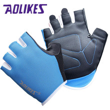 AOLIKES 1 Pair Women Men Gym Gloves Body Building Training Sport Fitness Gloves Exercise Weight Lifting