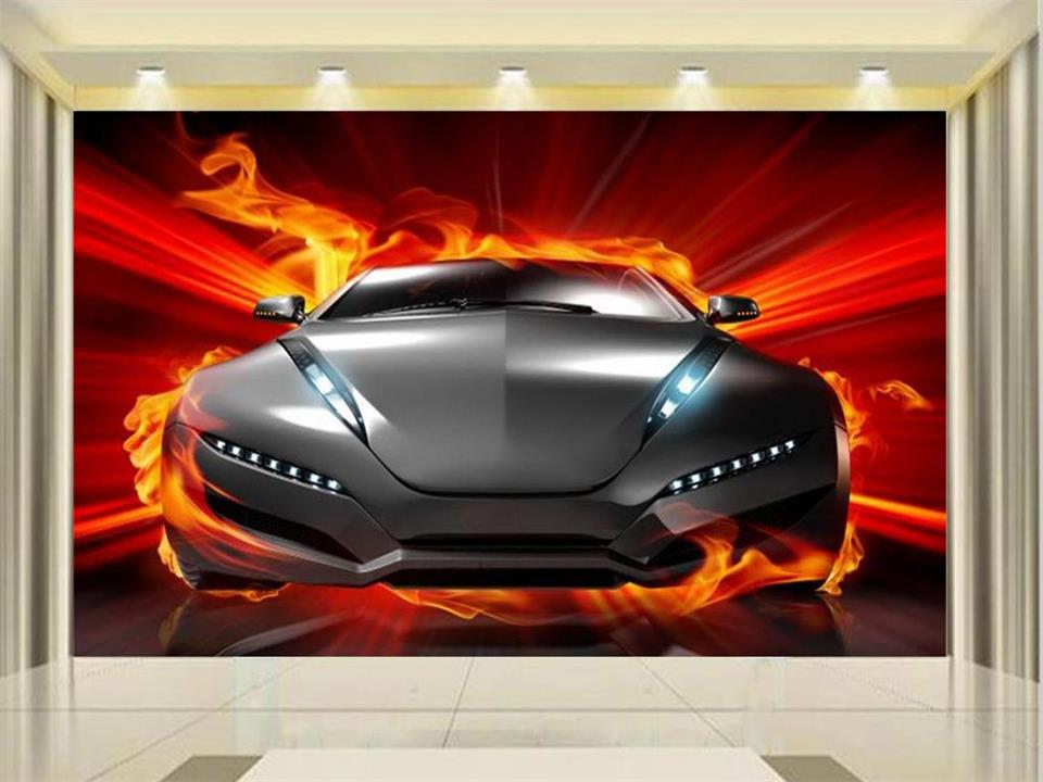 3d wallpaper photo wallpaper custom size mural living room super combustion sports car painting sofa TV background wall sticker free shipping around the world art environmental children s room wallpaper super large mural baby room custom size