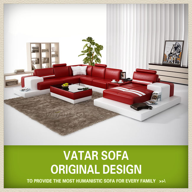 Contemporary Furniture,red Leather Living Room Sofa H2205