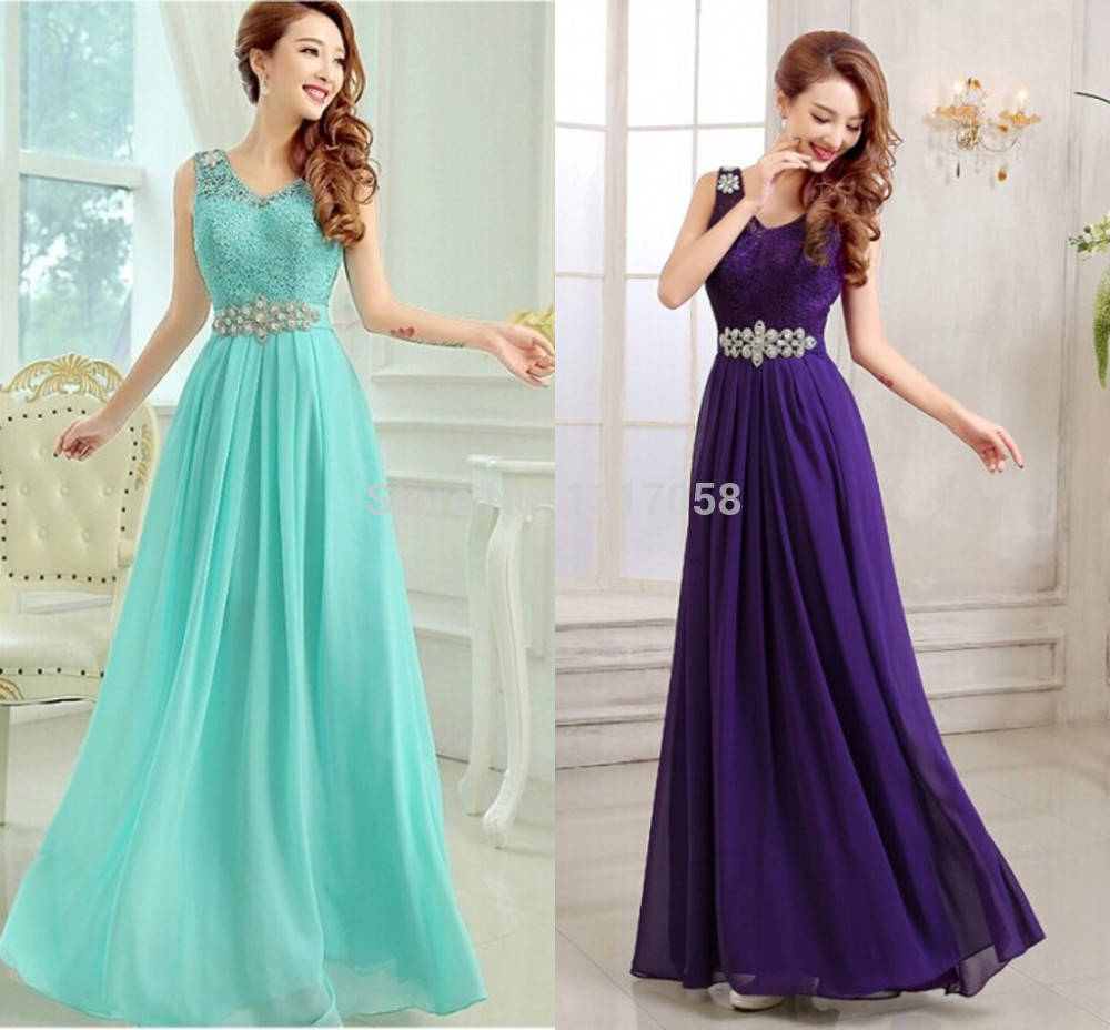Wedding Dresses Evening Gowns: Stock China Long Prom Dressses Cheap Turquoise Income