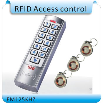 2015 newest working frequency of 125 KHZ RFID EM card  access control system, luminous digital keyboard+10 pcs cards