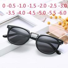 Men Sunglasses Women Myopia Square Rivets Fraame Black Lens