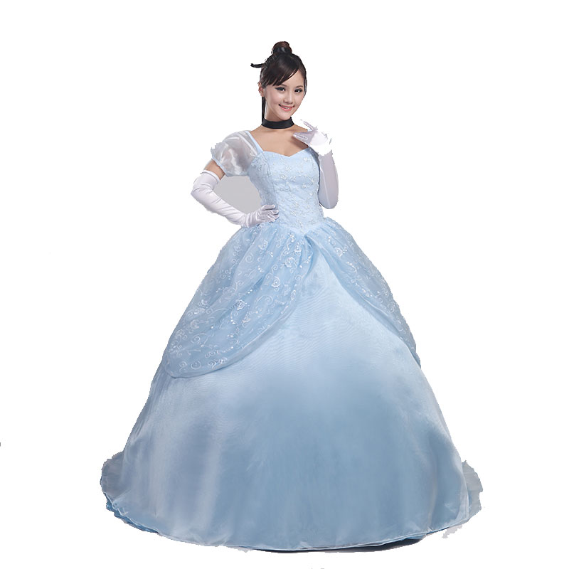High-quality luxury Cosplay Costume movie  Princess Cinderella dress Halloween party adult Women/Carnival/Show/Party Dress