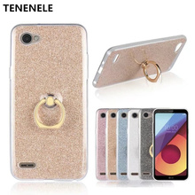 "TENENELE Phone Case 5.5""Coque For LG Q6 Luxury Case Funda Silicone With Stand Ring Cover For LG Q6 Smart Phone Case"