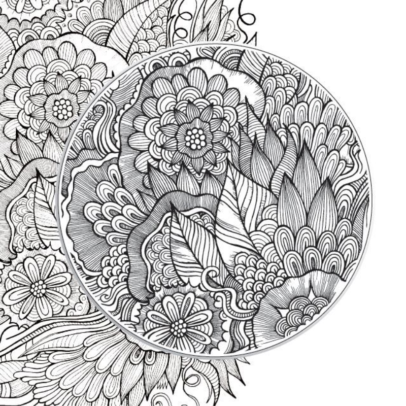 Giardino Zen Antistress : Libro mandala da colorare il