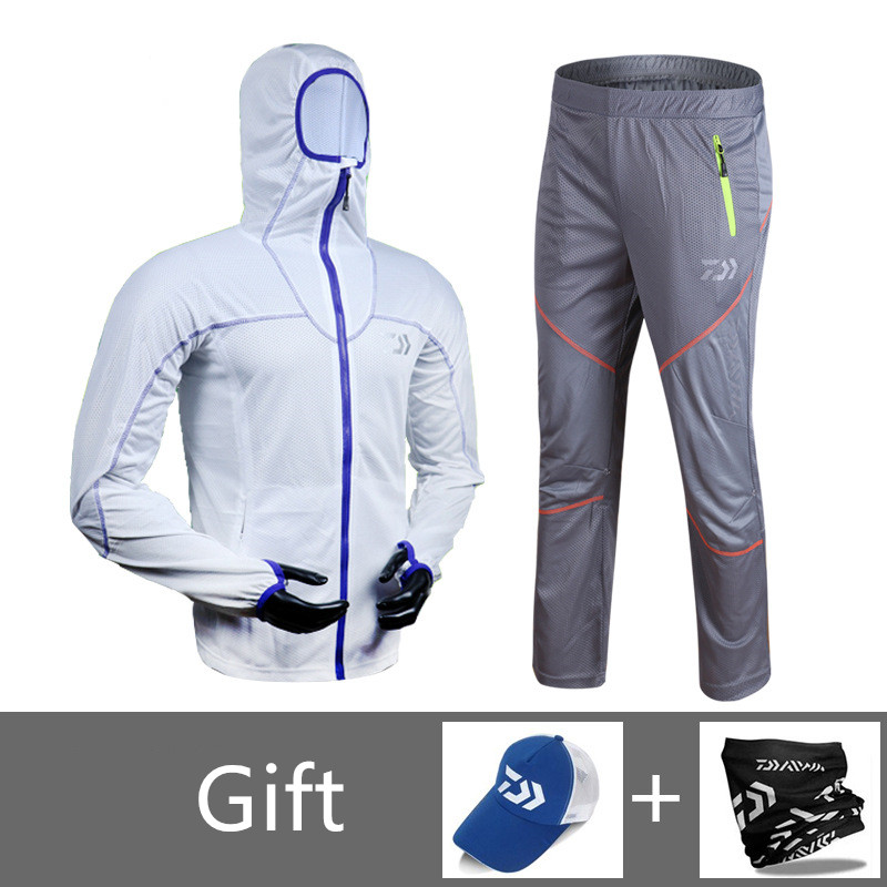 Daiwa Sun Protective Fishing Clothing Men s Quick Drying Breathable Anti Mosquito Large Size 4XL Hooded