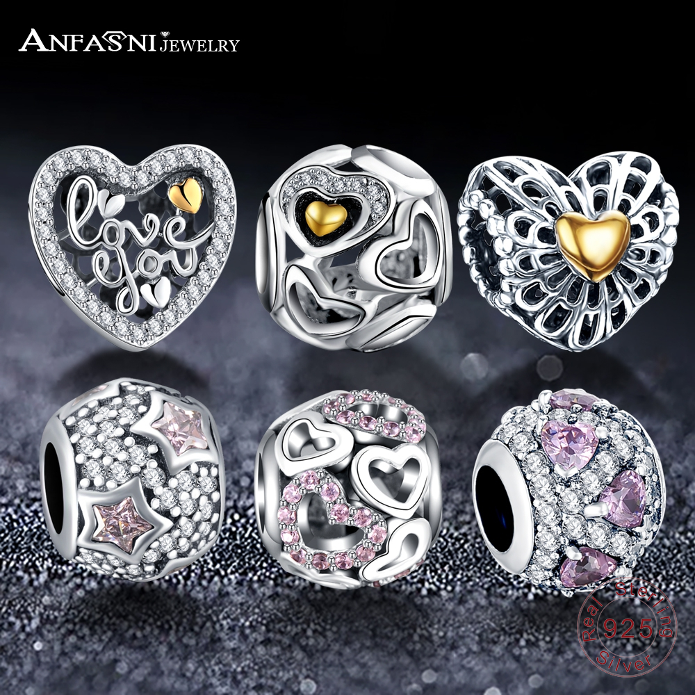 ANFASNI Bracelet DIY Jewelry Beads-Fit Halloween's-Day-Gift 925-Sterling-Silver European Charms