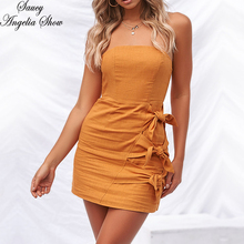 SAUCY ANGELIA Women Summer Dress Sexy Wrap Straple