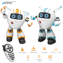 JJRC R14 Robot Toys Intelligent Music Dancing Robo Poetry Robotica Kids Toys For Children Robotics Remote Control RC Robot Toy rc smart robot english toy r 1 infrared slide walk shoot missile dancing intelligent remote control battle droid toy for kids