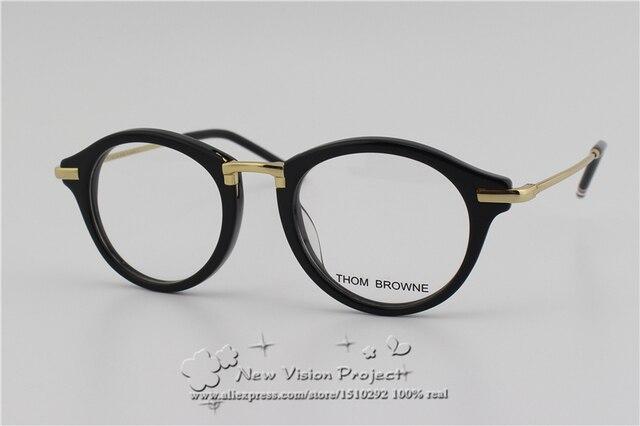 Высокое Качество TB703 Очки Кадры Нью-Йорк Бренд Том Браун Женщины Мужчины Оптические очки Кадры очки