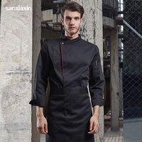 sanxiaxin new unisex hotel uniforms chef jacket woman accessories chef coat waitress chef clothes chef restaurant sushi uniform
