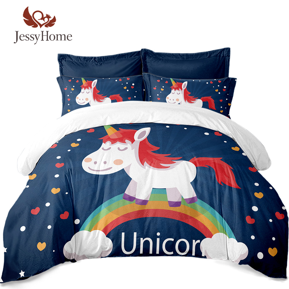 Home & Garden Elephants And Trees Bedding Set Indian Style Red/blue Color Double Kids Bed Set Cartoon Duvet Cover&pillowcase Bedding Kit King Wide Selection; Home Textile