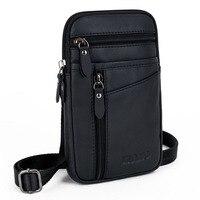 2017 Men Genuine Leather High Quality Fashion Crossbody Shoulder Bag Belt Hook Waist Fanny Pack Phone