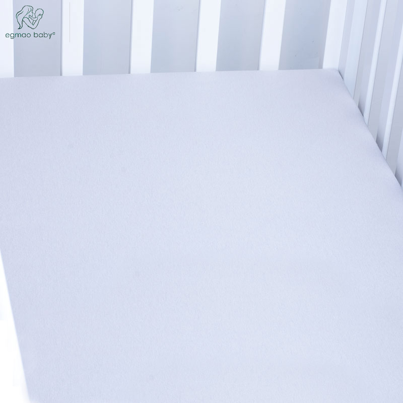 EGMAOBABA Cotton Baby Fitted Sheet Cartoon Crib Mattress Protector,baby bed sheet for crib size(130*70cm) Baby bed fitted sheet
