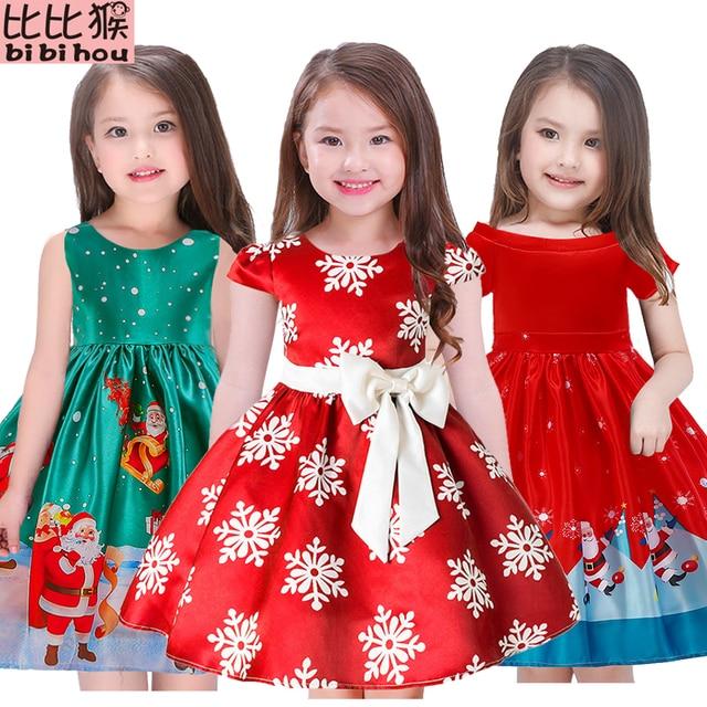 בנות שמלת חג מולד פתית שלג שמלות בנות נסיכת שמלת תינוק בנות ליל כל הקדושים חג המולד anniversaire תלבושות שמלה