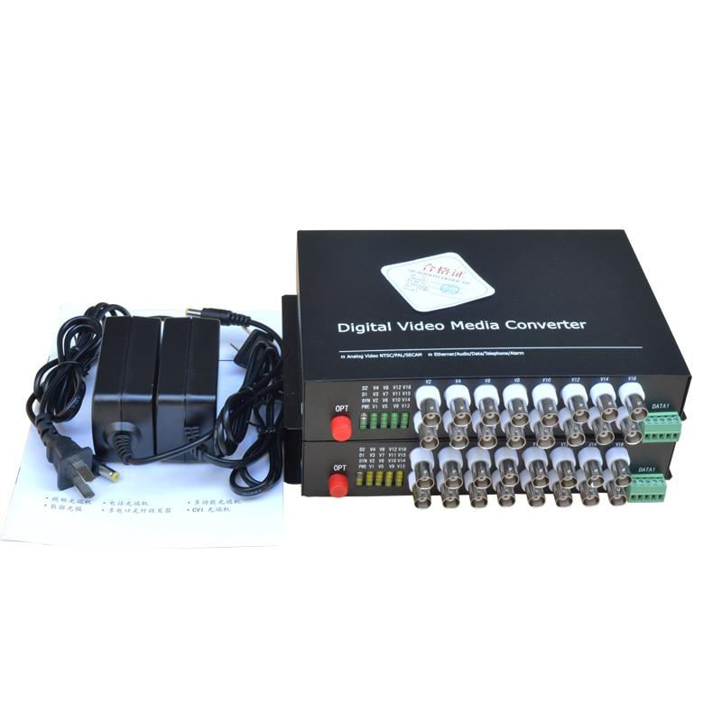 16 CH Video Fiber Optical Media Converters -16 BNC Transmitter Receiver RS485 Data Single mode 20Km For CCTV Surveillance system16 CH Video Fiber Optical Media Converters -16 BNC Transmitter Receiver RS485 Data Single mode 20Km For CCTV Surveillance system