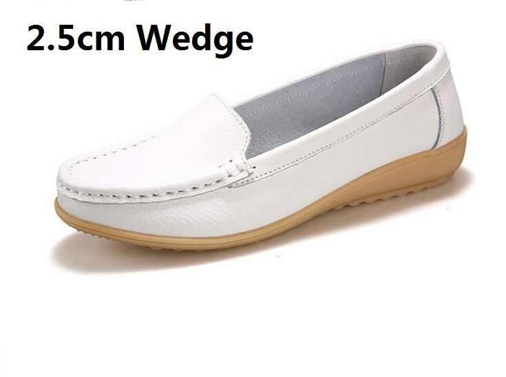 2020 echtem leder Atmungs Wedges Beiläufige Flache Schuhe Für Frauen Sport Faulenzer Chaussure Femme Damen Trainer Zapatos Mujer