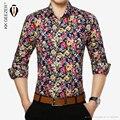 2015Fashion casual men's long-sleeved slim fit shirt men Brand Male Social Dress Shirt Clothes Multiple choose