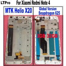 Ограниченное предложение Ltpro ЖК-дисплей Сенсорный экран Панель дигитайзер в сборе с рамкой для Xiaomi Redmi Note 4 часть MTK helio X20 или Глобальный Версия 3 ГБ 32 ГБ