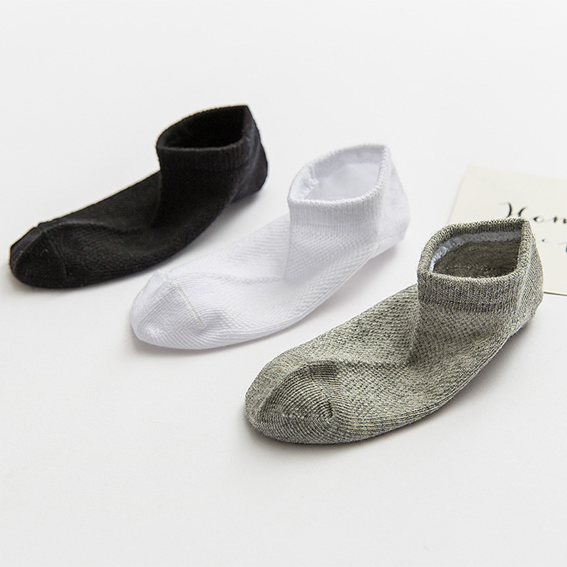 Baby Socks 5 Pairs/lot Boys Girls Black White Socks Cotton Soft Newborn Babies Mesh Comfortable Socks Kids School Sport Clothes