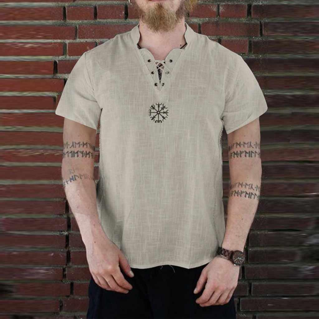 男性のシャツ blusa masculina だぶだぶ新スタイルのコットンリネン半袖男性のシャツのボタントップ紳士服カミーサ masculina