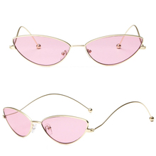 Metal Cat Eye Sunglasses Small Steampunk Sun Glasses Fashion Women Men Steam Punk Adorable Driver