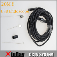 2MP 20M USB Endoscope Support Waterproof With 6 LED 9mm Lens Mini USB Inspection Endoscope