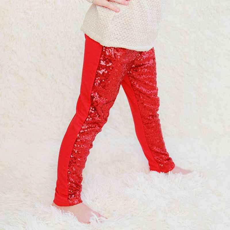 Cầu vồng unicorn vàng phổ biến sequins bé Thời Trang Bling shiny Cô Gái xà cạp màu Kẹo Quần trẻ em xà cạp quần cô gái