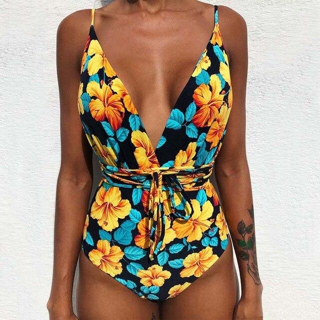 e6aba69728b 2019 Sexy One Piece Swimsuit Female Backless Bodysuit Brazilian Monokini Swimwear  Women Bathing Suit Beach Wear stroj kapielowy