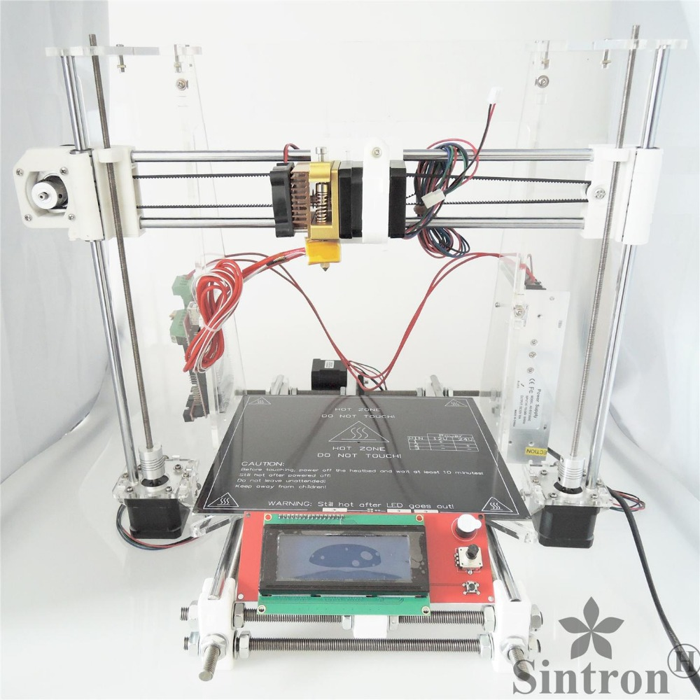 [SINTRON] High Accuracy DIY 3D Printer full complete Kit for Reprap Prusa i3 ,MK3 heatbed,LCD 2004 , MK8 extruder [sintron]high accuracy diy 3d printer kit for reprap prusa i3 mk3 heatbed lcd 2004 mk8 extruder official prototype free shipping