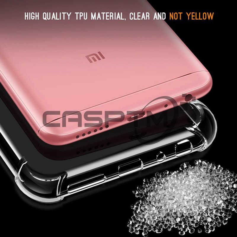 CASPTM 透明アンチノック電話ケースシャオ mi mi A2 Lite 8 SE A1 Pocophone F1 のためのカバーシャオ mi 赤 mi 注 6 プロ 5 プラス 6A
