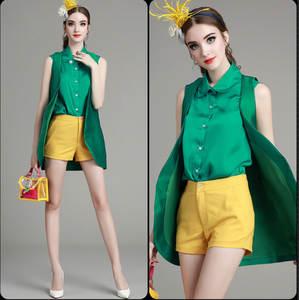 270c780d2199 sponge mice Summer 3 piece set women tops and shirt shorts