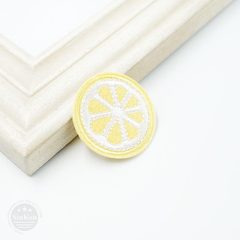 Lemon (Size:4.1X4.1cm) DIY Cloth Badge Mend Decorate Patch Jeans Jackets Bag Clothes Apparel Sewing Decoration Applique