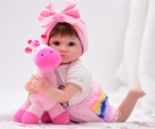 Suitable for children 40cm Silicone Reborn Baby Doll Girl Soft alive Vinyl Fashion Dolls Lifelike Babie Boneca Bebe Menin