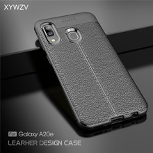For Samsung Galaxy A20e Case Luxury PU leather Rubber Soft Silicone Phone Cover