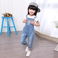 Retail 2016 kids denim overalls,boy&girl leisure trousers wash water soft boy denim overalls kids jeans children's pants jeans