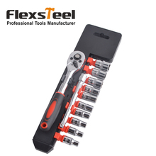 12pcs Combination Socket Wrench Set with 1/4