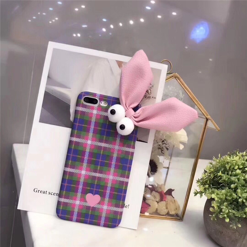 Lovley NEW Fashion 3D Rabbit Ear Cartoon Mobile Phone Housing For iPhoneX 10 Hard Plastic PC Protective Shell Coque Funda Covers
