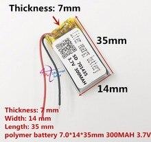 أفضل بطارية العلامة التجارية 3.7 V بطارية ليثيوم بوليمر 701435 701535 300 mAH مسجل صوت اللاسلكية الماوس قلم تسجيل