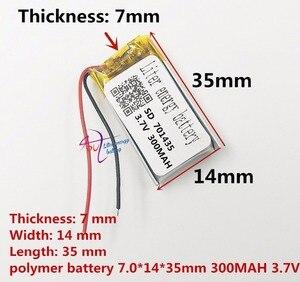 Image 1 - Najlepsza bateria marki 3.7 V bateria litowo polimerowa 701435 701535 300 mAH rejestrator dźwięku bezprzewodowa mysz długopis z funkcją nagrywania