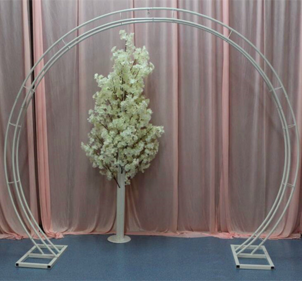 US $267 0  wedding arch stands for flower frame Bridal arch frame  background decoration cherry blossom arch round flower door frame  wedding-in Storage