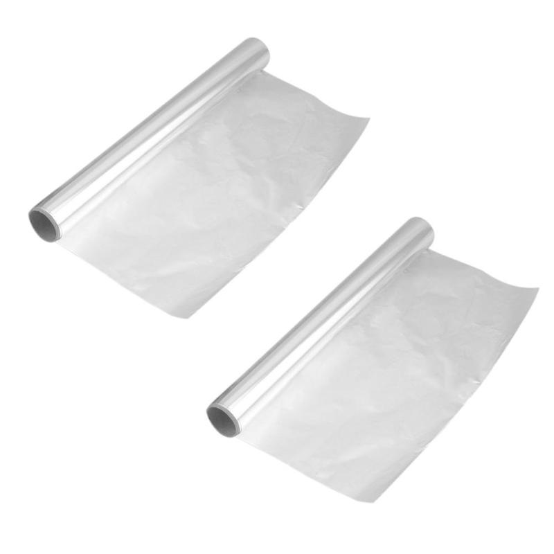Thicken 5m Tin Foil Mat Outdoor Barbecue Heat Resistance Cooking Baking Food Pack Roll Aluminium Foil Perming Paper BBQ Tool