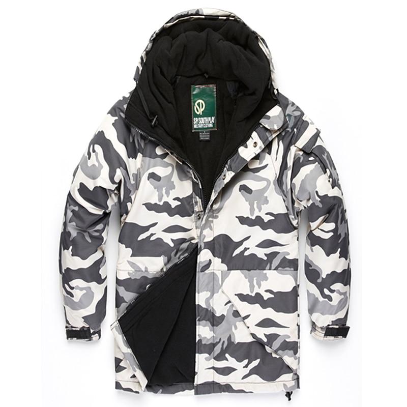 """Prix pour Prime Vêtements """"Southplay"""" Hiver Étanche Ski Snowboard Veste-Blanc Militaire"""