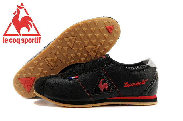 29dcb7133c High Quality Embossed Leather Le Coq Sportif Men's Athletic Shoes,Le Coq  Sportif Men's Running Shoes Sneakers Black/Red Color