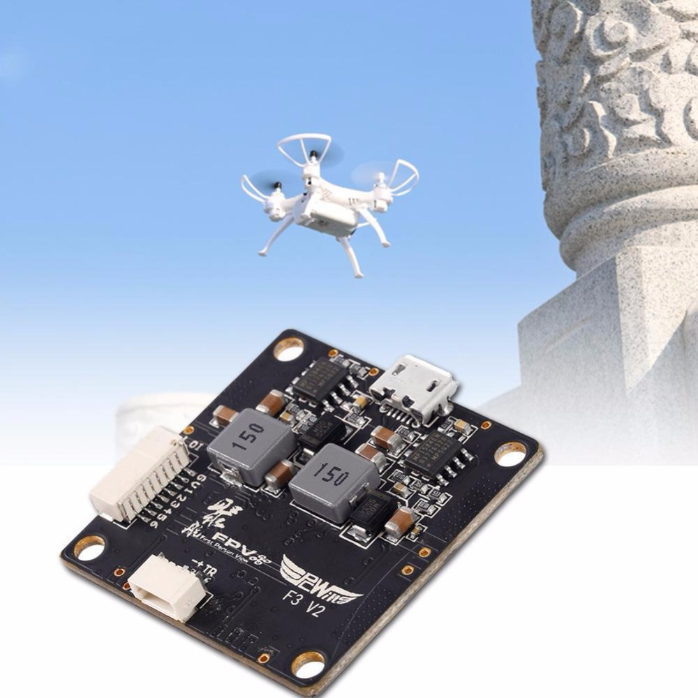 HGLRC F3 V2.0 Flight Control Board Integrated with PDB 5V 12V BEC GJ f3 flight controller board integrated with 5v 1a esc