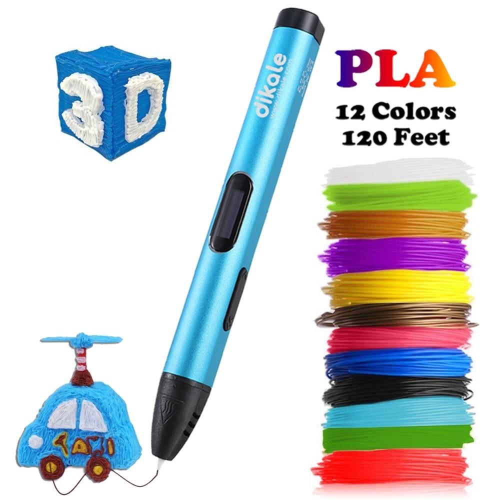 Dikale 3D Printing Pen 5V DIY 3D Pen Pencil USB Charging 3D Drawing Pens Free PLA