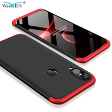 3 in 1 Design Hard PC Protection Case Huawei P20 Lite Shock-Proof Hybrid 360 Full Body For Back Cover