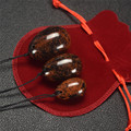 Health Ball 3 pcs Natural Mahogany Yoni Eggs Body Massager Jade Eggs for Women Vagina Compact as Gifts With a Blessing Bag