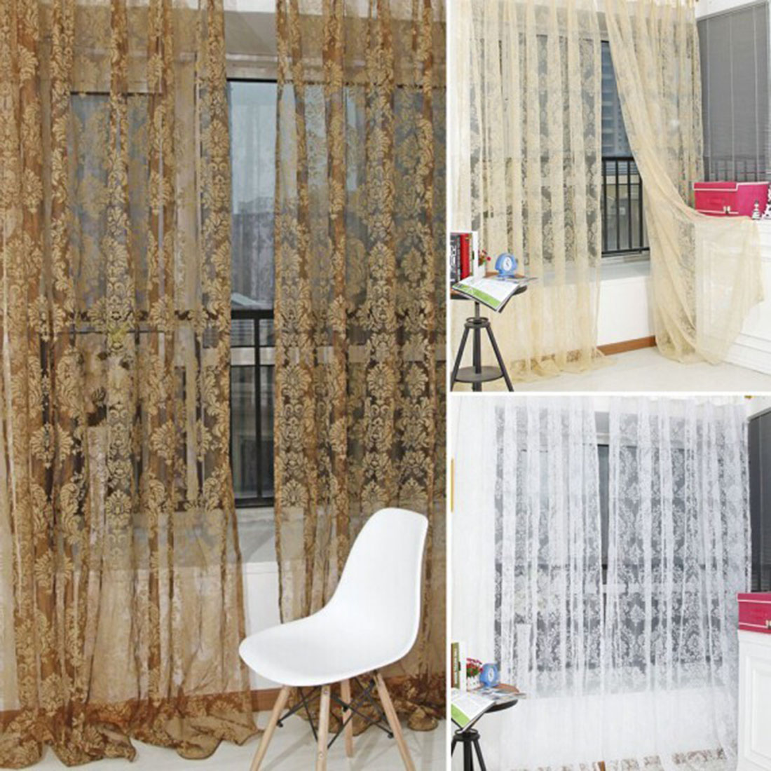 New Fashion Style Finished Window Screening Tulle Modern